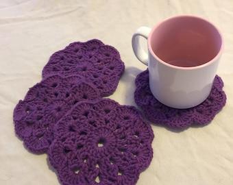 Royal Purple Cup Coasters