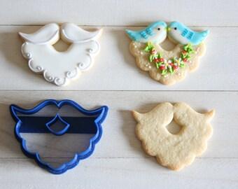 Happy bird / Beard cookie cutter