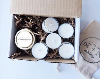 Sample Wedding Favor Kit - Candle Favor Sample - Personalized Candles - Candle Wedding Favors - Wedding Favor Candles - Custom Candles