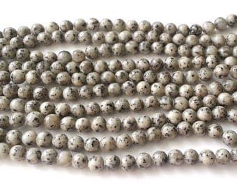 Sesame jasper beads - jasper beads - 8mm beads - round beads - gemstone beads