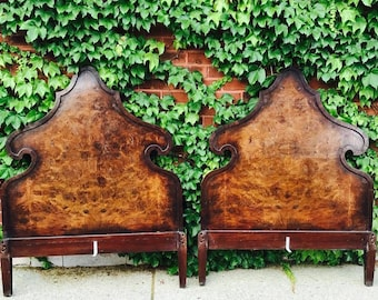 twin bed frames circa 1920