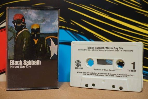 Never Say Die by Black Sabbath Vintage Cassette Tape