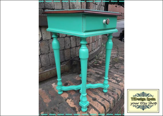 Side table, Bedside table, Side table Etsy, Side table wood, Side table for sofa, Side table turquoise, Side table small, Side table vintage