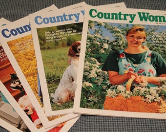 5 - 1996 Country Woman Magazines ~ Back Issues ~ Crafts ~ Home Cooking Recipes ~ Gardening ~ Beautiful Photography ~ Vintage Collectible