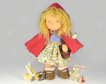 Red Riding Hood Waldorf Doll
