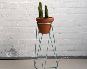 High Tri Plant Stand in Smoke Blue