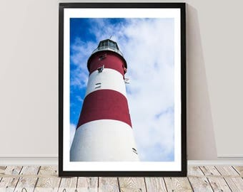 Lighthouse Photography Wall Art Print, Digital Download, Instant download, Printable Large Poster, Coastal Decor, Wall Printable decor