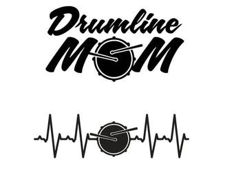 marching band  drumline snare  heartbeat /drumline mom / car decal