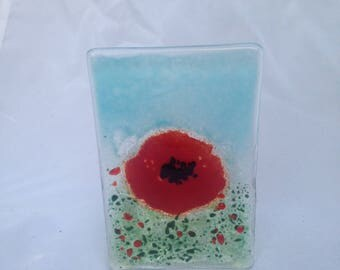 Poppy field tea light holder