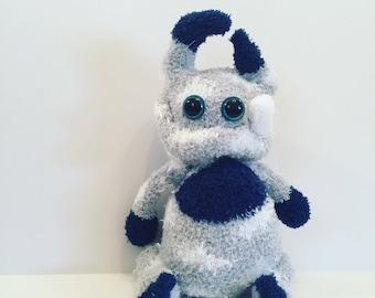 Abominable monster, abominable plush monster, Sock monster.
