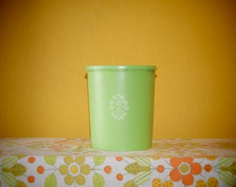 Apple Green Tupperware Canister
