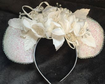 Bridal Mickey Mouse ears.