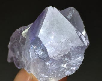 Terminated Fluorite Crystal Twin Transparent Rough Specimen FL016