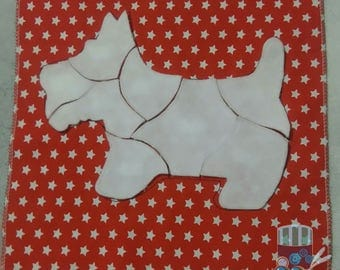 Busy book dog puzzle page toddler felt book quiet book dog puzzle