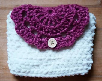 Crochet Case with a handmade doily