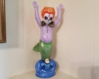 Dia de Los Muertos Zombie Mermaid