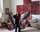 Prophetic - Silk Flag - Worship Flag - Praise Dance - Dyed Silk - M Streamer Veil pair called Covenant