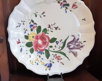 Old hand decorated plate, ceramics old Lodi. Lodi Italia.