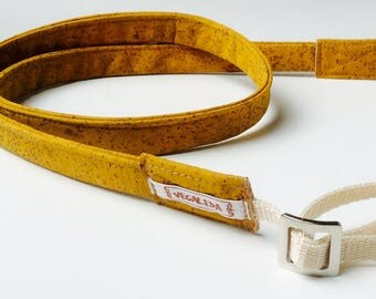 Camera strap camera strap, vegan, soft and stable, - Kansas City yellow-, differents size