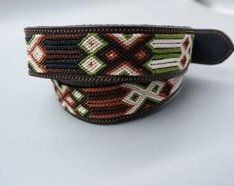 Woven Macrame Leather Belt SZ 36(L)