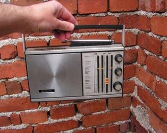 Russian radio SOKOL 308, Radio receiver USSR, Vintage portable radio, Soviet Transistor, Collecting radio, Old radio receiver