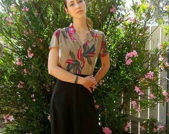 Vintage Dark Gray Midi Skirt