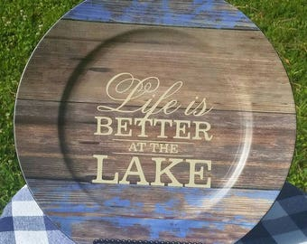 Life is Better at the Lake Charger Plate