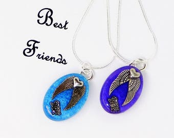 BFF Necklace for 2, BFF Long Distance Necklace, BFF Necklace Heart Pendant, Friendship Necklace for 2,  Bff and Me Jewelry, Bff Gift Ideas