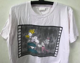 Vintage Mickey Mouse Shirt Size XL and  Micky Mouse And Minnie Mouse walt disney Cartoon 90s  Made IN Usa