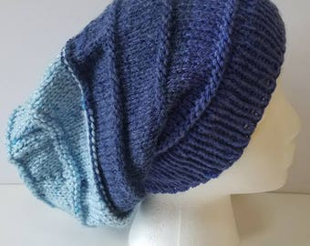 Shades of Blue Slouchy Hat