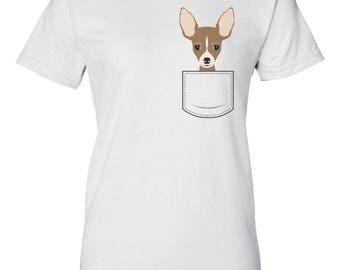 Chihuahua In Pocket - Pocket Pet Shirt