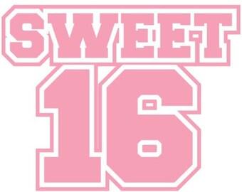 Sweet 16 - 16th Birthday Shirt