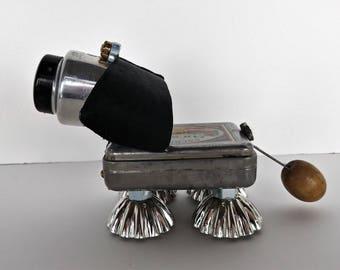 Found object Robot Dog - Steampunk sculpture - Metal dog - Pound Puppy - Junkbot - Show Dog