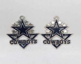 Dallas cowboys etsy 2pc dallas cowboys pendant dallas cowboys jewelry dallas cowboys necklace dallas cowboys charm aloadofball Gallery