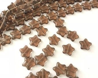 Vintage Czech Glass Star Beads (20)