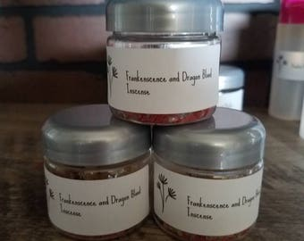 Frankincense and dragon blood incense