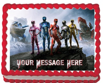 Mighty Morphin Power Rangers 2017 Zords Edible Cake Topper