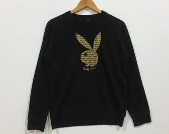 Rare !!! Vintage playboy big logo sweatshirt