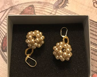 Pearl Ball Earrings
