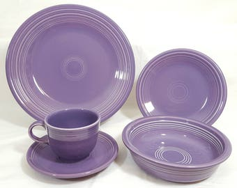 Fiesta Lilac 5 Piece Place Setting #4