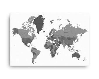Canvas world map etsy custom pushpin world map office world map decor canvas world map push pin gumiabroncs Choice Image