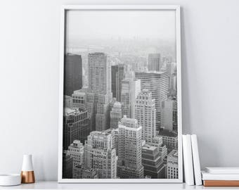 Large City Wall Art| Modern City Poster| Printable Wall Art| Cityscape Large Wall Art| City Wall Art Print| Digital Download Wall Decor