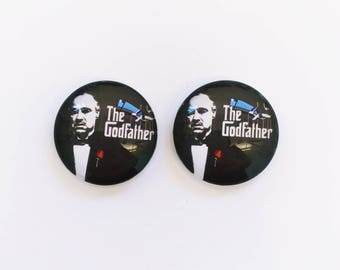 The 'Godfather' Glass Earring Studs