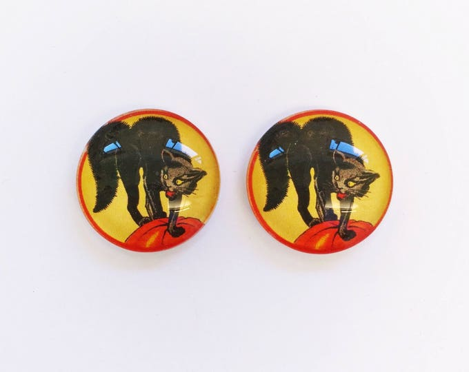 The 'Scaredy Cat' Glass Earring Studs