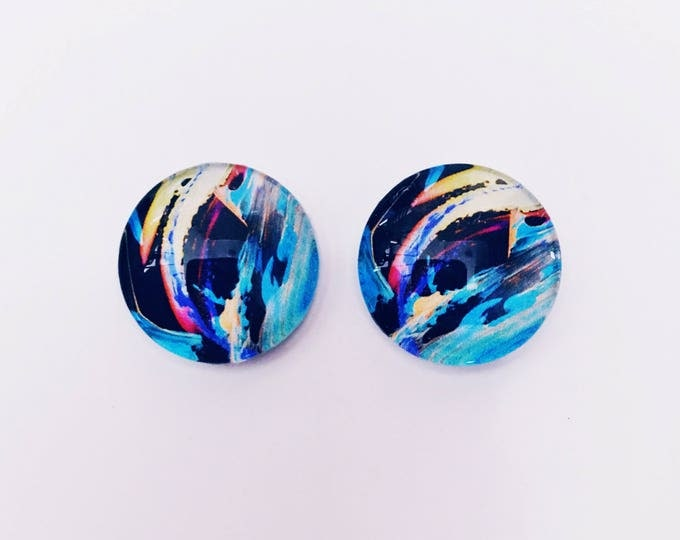 The 'Natalie' Glass Earring Studs