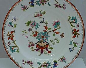 C1870 WORCESTER Porcelain Large Hand Painted & Transfer Dinner PLate Fully mArked