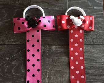 HAIRBOW ORGANIZER, Minnie Mouse Bow Holder, Hairbow Organizer, Minnie Bow Organizer, Hair Clip Holder, Minnie Mouse Bow Organizer