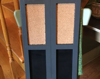 ChalkBoard and Cork Bulletin Board.