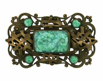 Neiger Brothers 1920s East Asian Inspired Vintage Brooch