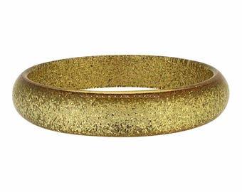 1950s Gold Confetti Lucite Vintage Bangle